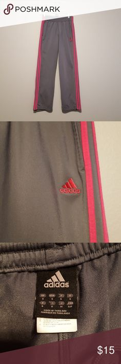 Adidas pants Gently used Adidas pants with pink stripes adidas Pants Track Pants & Joggers