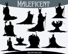 maleficent silhouette printable - Google Search