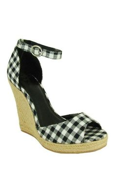 Qupid - Gisha One Band Ankle Strap Wedge. They ran out of my size! GAH