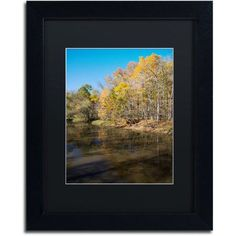 Trademark Fine Art Vermilion River Autumn Canvas Art by Kurt Shaffer, Black Matte, Black Frame, Size: 11 x 14, Multicolor