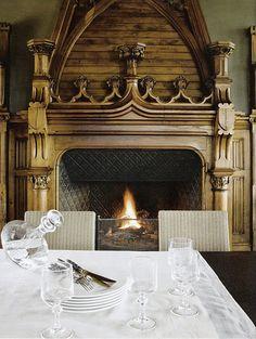 Beautiful large fireplace