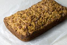 Low carb zucchini bread with a walnut topping. This is a great keto breakfast treat for those days when you want something other than bacon and eggs.