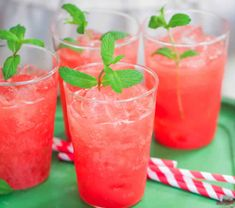 Homemade Watermelon Soda, a cocktail recipe. Summer Drinks, Fun Drinks, Cold Drinks, Healthy Drinks, Beverages, Mixed Drinks, Cocktail Thermomix, Mint Simple Syrup, Recipes