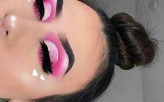 valentines makeup looks Pink Eye Makeup, Makeup Eye Looks, Beautiful Eye Makeup, Eye Makeup Art, Colorful Eye Makeup, Cute Makeup, Hooded Eye Makeup, Eyeshadow Makeup, Eyeshadow Palette