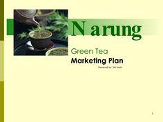 Green tea marketing plan by PROACTIVE BRAND  via slideshare