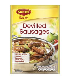 Devilled Sausages Devilled Sausages Recipes, Deviled Sausages, Sausage Recipes, Maggi Recipes, Snack Recipes, Healthy Recipes, Balanced Meals, Budget Meals, Tomato Sauce