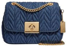 18450f8f84c5 Cassidy Quilted Blue Denim W/ Leather Details and Suede Interior Cross Body  Bag