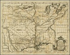 A Map of Louisiana, with the course of the Missisipi, and the adjacent Rivers, the Nations of the Natives, the French Establishments and the Mines . . . 1757  --  Map Maker: Antoine-Simon Le Page du Pratz