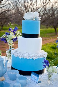 Beautiful cake by Sweet Sensations Cakes on Little big Company blog wedding dessert table feature
