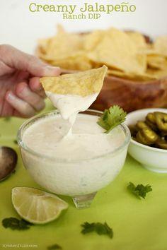 Creamy jalapeño ranch dip. Perfect appetizer for parties. Capturing-Joy.com