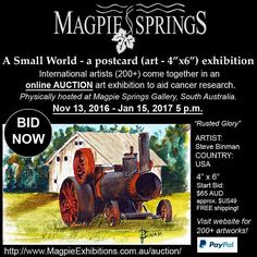 ..ART LOVERS.. Come out - come out - where ever you are!!!! We NEED you!!!! Online auction / finishes 15th Jan........COME SEE the originals exhibition in South Australia Magpie Springs!! Proceeds for Cancer Research #art #drawn #instartist #art  #painting #oilpainting  #artsy #beautiful #instaartist #artoftheday #artist #artcollector #exhibition #gallery #watercolour #internationalartist #australianartist #helpnow #artist #picoftheday #artoftheday #exhibition #gallery #originalart #painting…