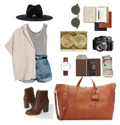 """Travel the world"" by mxgvi ❤ liked on Polyvore featuring art"
