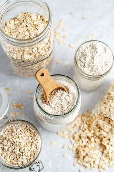 Learn how to make oat flour right at home with just one simple ingredient and one step! In about 5 minutes you'll have homemade oat flour to use in your favorite breads, muffins, desserts and more. Skip the store-bought version and make a batch of oat flour for your fav recipes! #oatflour #howtoguide #glutenfree Best Gluten Free Desserts, Gluten Free Oats, Good Healthy Recipes, Oat Flour Recipes, Oatmeal Recipes, Baking Tips, Baking Recipes, Dessert Recipes, Free Recipes