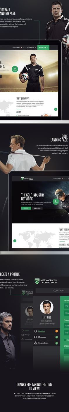 Network90 redesign on Behance