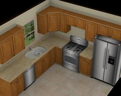 10 x 12 kitchen layout 10 x 10 standard kitchen for Kitchen designs and layouts for small kitchens