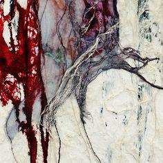 detail van Sense of Healing door Maggie Ayres Textiles, A Level Art, Encaustic Art, Contemporary Abstract Art, Collage, Mixed Media Artists, Science Art, Textile Artists, Fabric Art