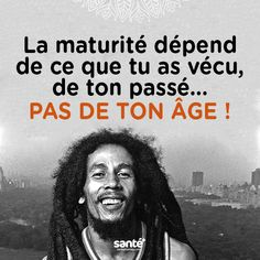 #citations #vie #amour #couple #amitié #bonheur #paix #esprit #santé #jeprendssoindemoi sur: www.santeplusmag.com Quote Citation, French Words, Bob Marley, Spirit Guides, Some Words, Positive Attitude, Education Quotes, Word Porn, Quotations