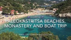 Enjoy a relaxing trip to pretty Paleokastritsa on the lovely island of Corfu in northern Greece. Sandy beaches, historic monastery and a boat trip along the . Mykonos Greece, Crete Greece, Athens Greece, Santorini, Places To Travel, Travel Destinations, Greek Isles, Greece Islands