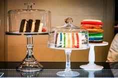도레도레 '고마워 케이크'의 무지개 케이크.