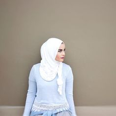 Off white jersey hijab www.uniquehijabs.com @omayazein