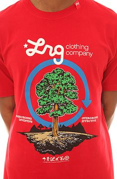 LRG Tee Earth Tree Cycle Tee in Red: Karmaloop