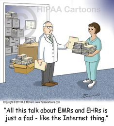 Cartoon-doctor-tells-nurse-that-emr-ehr-is-a-fad_emr104