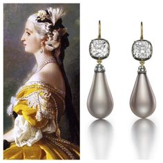 The Empress Eugénie Pearls will be a major highlight at this year's Masterpiece London. Reset into a magnificent pair of earrings by Siegelson, they are surely fit for a modern day queen! @masterpiecelondon #siegelson #empresseugeniepearls #naturalpearl #diamond #earrings