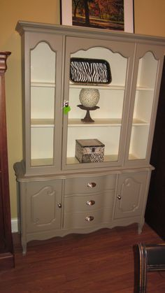 I Refinished My Old China Cabinet I Did A Faux Crackle Finish With