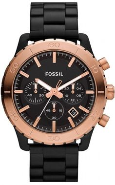 Fossil CH2817 Keaton Black with Rose Stainless Steel Band Men Watch < $101.67 > Fossil Watch Men