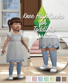 TS4: Knee High Socks for ToddlersThere wasn't any long socks available for toddlers so I fiddled little with the textures and made these. I think they will look good with skirts and shorts. The tot in...
