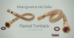 #consigaspecas - Mangueira de Gás Flexível Tomback 40CM e Malha de Latão, para Aquecedor a Gás. Tem na www.consigaspecas.com.br …