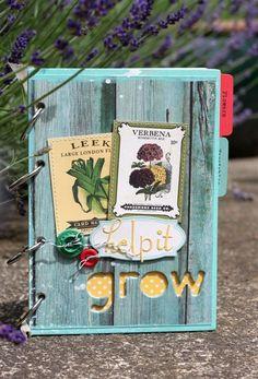 Garden Book 1 (Medium). Cute little book with dividers, pockets, envelopes, etc.