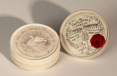 """""""Tetlow's Swan Down appeared in 1875 and was marketed as """"harmless""""...his brand was based on the fact that he ostensibly discovered cheap, whitening zinc oxide powder...to replace toxic products used in earlier cosmetics.  I purchased this untouched box from an antiques dealer and had the contents tested by a laboratory... The results were damning: the powder did indeed contain zinc, but it also contained a significant amount of lead.""""--Alison Matthews David"""