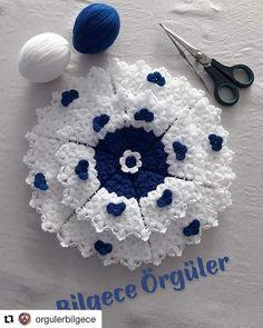 ( ・・・ Rabbim sizi o kadar çok sevsin . Elsa, Knit Crochet, Crochet Necklace, Knitting, Instagram, Blanket, Crafts, Crochet Leaves, Crochet Doilies