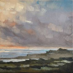From the Train VII - 6x6, painting by artist Sharon Schock