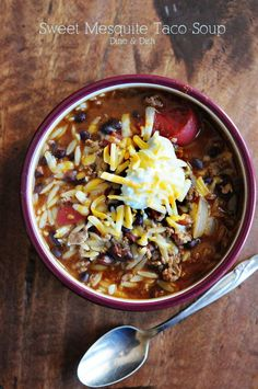 {Recipe: Taco Soup} - dineanddish.net