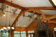 Fan for vaulted ceiling