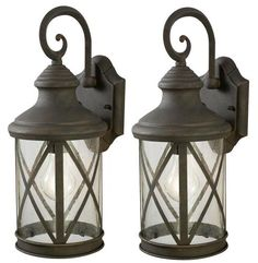 "Outdoor Garage Lights. Sonoma 1-Light 16"" Weathered Finish Twin Pack Outdoor Wall Light at Menards"