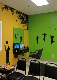 Main salon wall with novelty and kid size salon chairs - Cincinnati hair salons ...