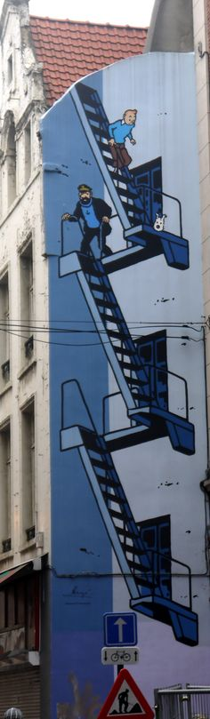 #Tintin mural, Brussels. #StreetArt