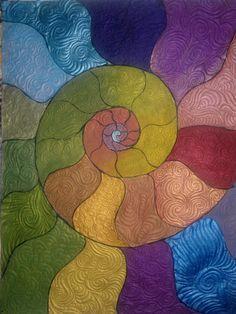 CSIGAVONAL   Festet textil szabad gépi tűzés Quilt Pattern Art, Art Patterns, Snail, Techno, Quilts, Google Drive, Painting, Ideas, Quilt Sets
