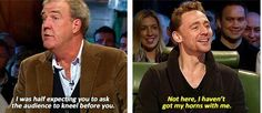 I was waiting for the day Tom appeared on Top Gear, and it was totally worth it.