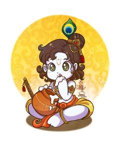 Maha Laxmi mata by In-Sine on DeviantArt - Krishna Krishna Statue, Radha Krishna Photo, Krishna Radha, Bal Hanuman, Krishna Leela, Little Krishna, Cute Krishna, Krishna Drawing, Krishna Painting
