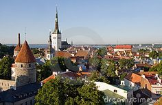 View over the Old Town of Tallinn, which is a UNESCO World Cultural Heritage site in Estonia