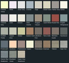 Vinyl Siding Color Chart Mastic Color Chart Siding