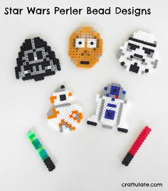 Bügelbilder Basteln & Kreativität Nett Star Wars Bügelperlenbild