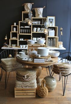 Shop interior vintage contemporary design. I wish I had the space for a display like this in my market stall