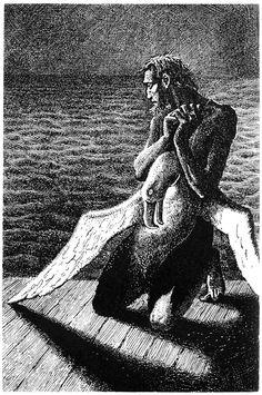 The Mariner & the Dead   Albatross, Mervyn Peake 1949