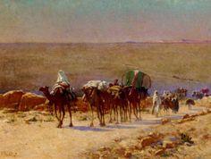 القافلة في الصحراء :: الكسيس أوغست Delahogue