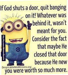 Funny Minions Quotes of the Week For minions lovers we got some great news… Funny Minions Quotes Pictures, Photos, Images & Pics. Here are 45 Very funny Minion Quotes and Funny images ! We hope Inspirational Message, Inspiring Quotes, Best Quotes, Funny Quotes, Awesome Quotes, Funny Memes, Hilarious, Citation Minion, Positive Quotes